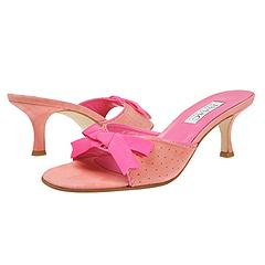 Isaac Mizrahi - Tricia (Peach Suede)  Manolo Likes!  Click!