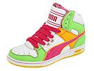 PUMA - UNLTD Hi LTD Wn's (White/Jasmine Green/Fuchsia Purple/Spectra Yellow) - Footwear