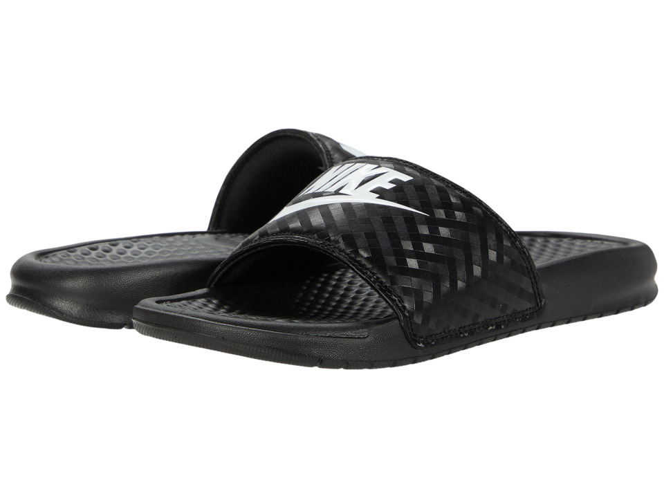 Nike Benassi Jdi Slide Black White Women S Sandals