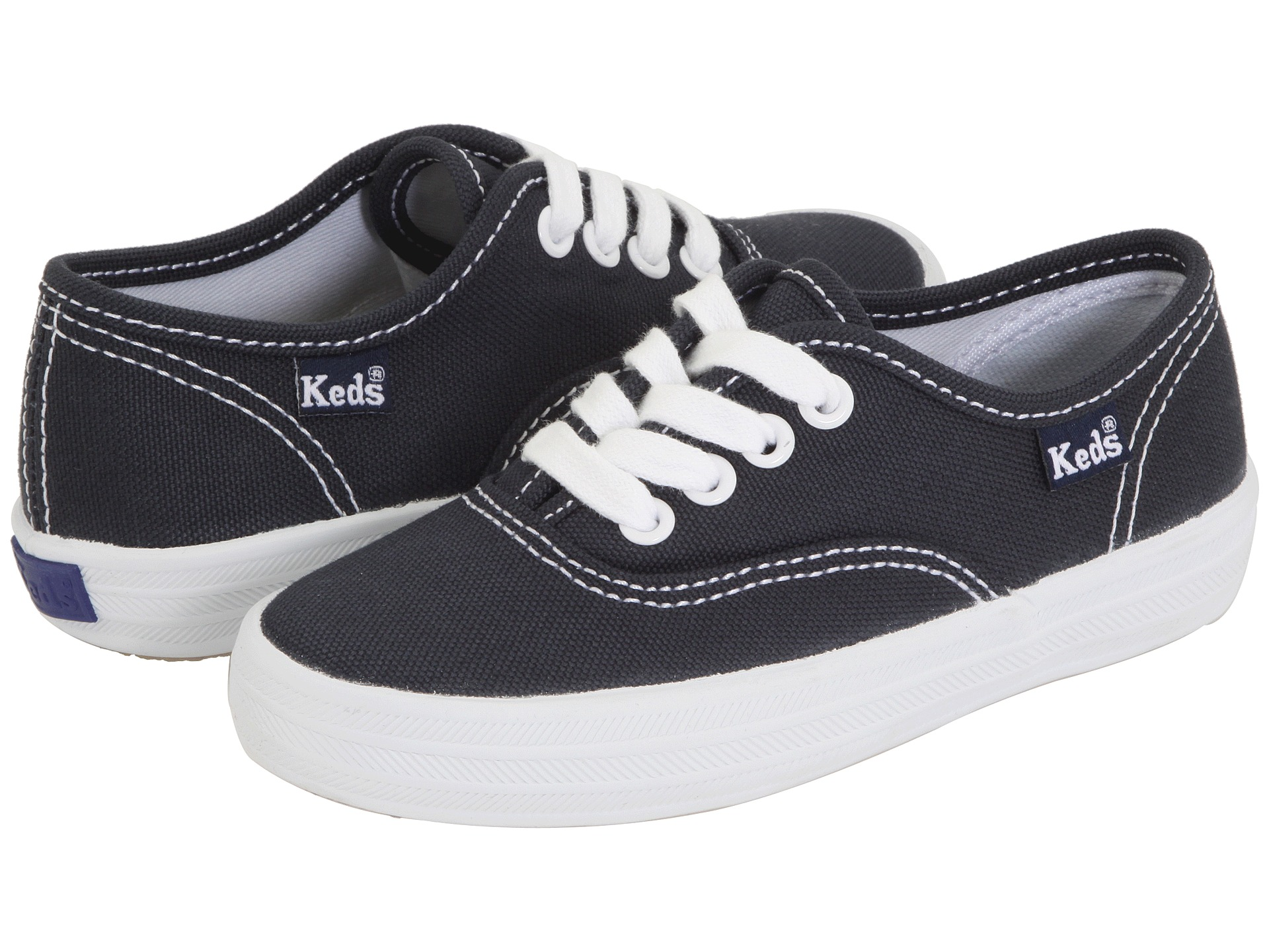 4b8be0caf4b316 Keds Kids Original Champion CVO (Toddler Little Kid) Navy Canvas on ...