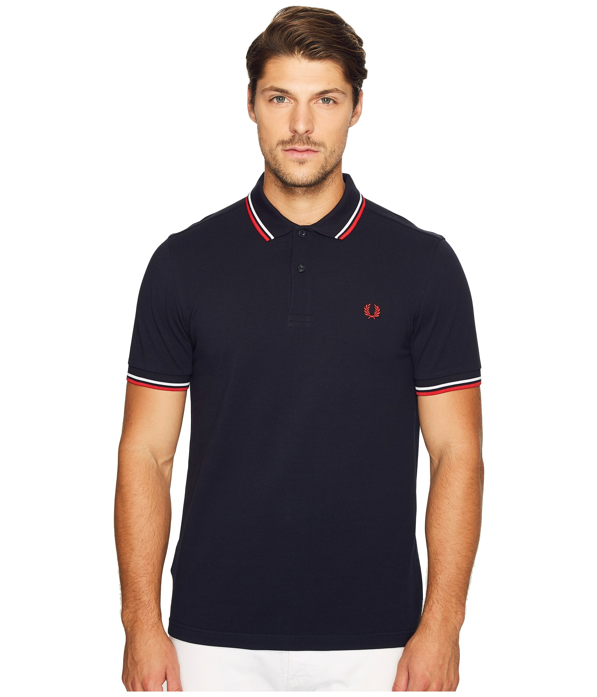 Fred Perry Slim Fit Twin Tipped Fred Perry Polo - Zappos ...