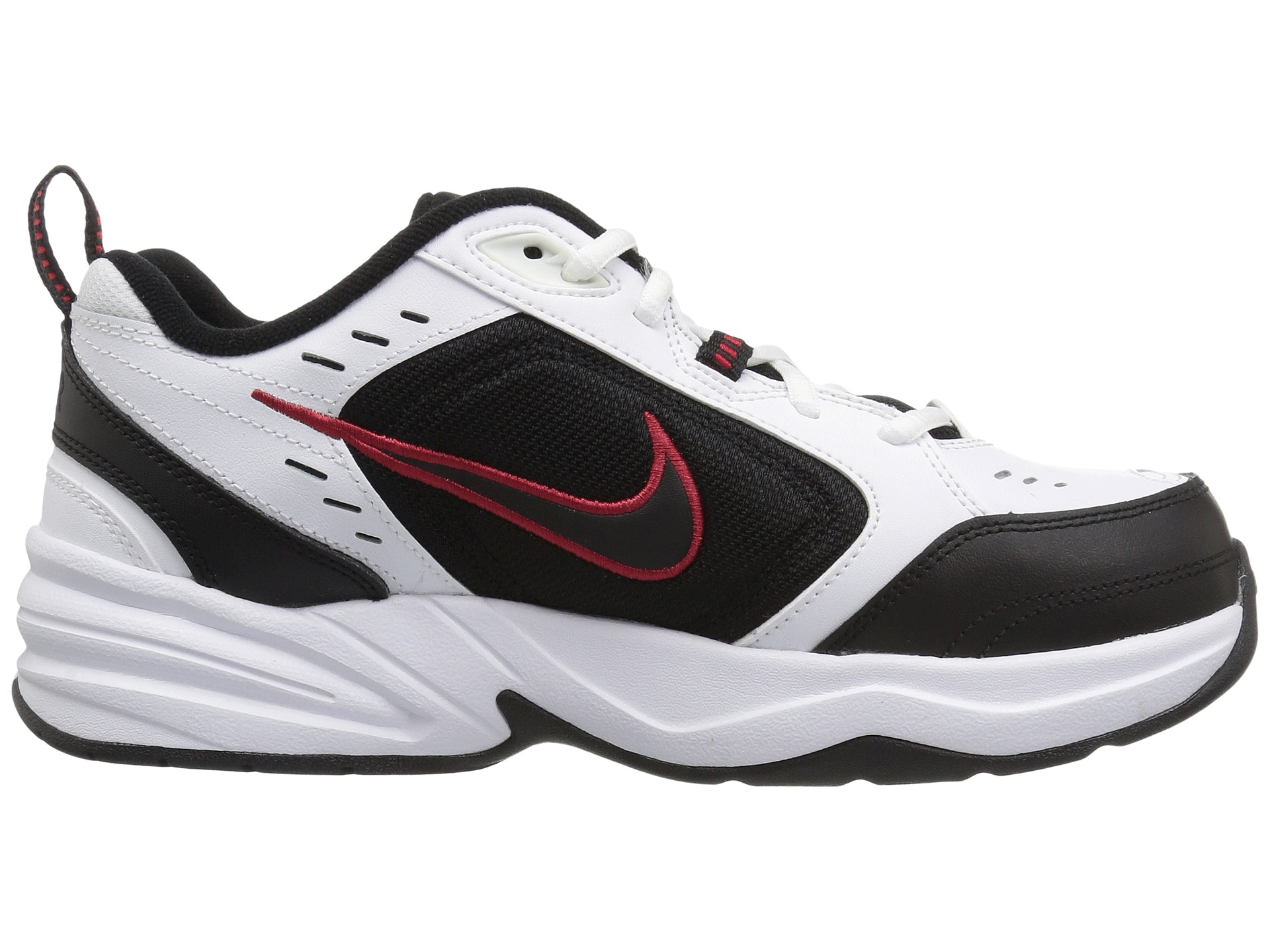 Nike Air Monarch IV White/Black-Varsity Red - Zappos.com ...