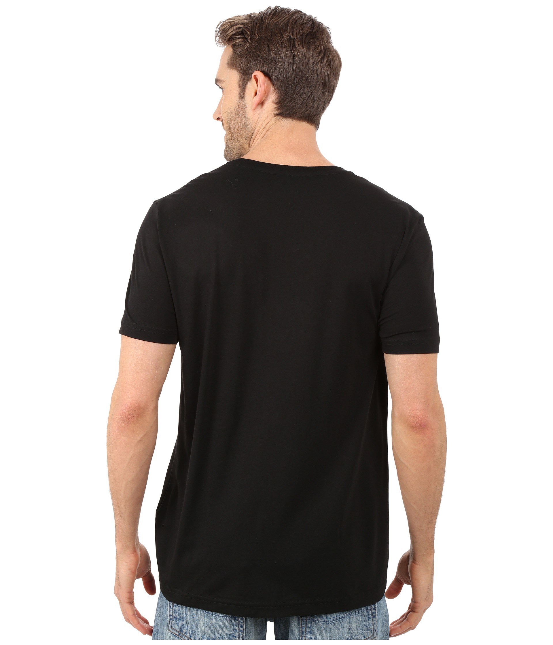 black t shirt model back - photo #1