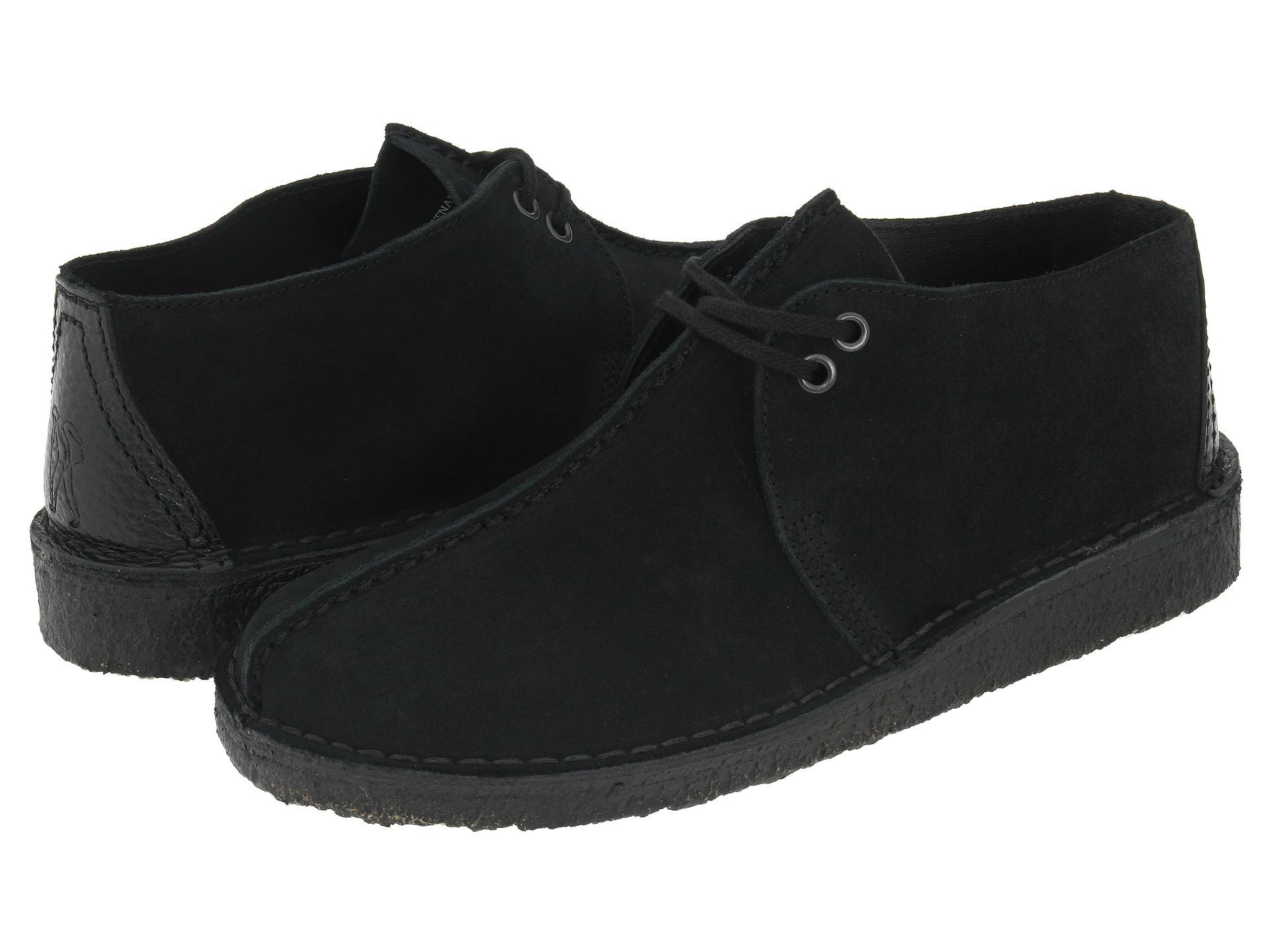 Clarks Desert Trek Black Leather Shoe