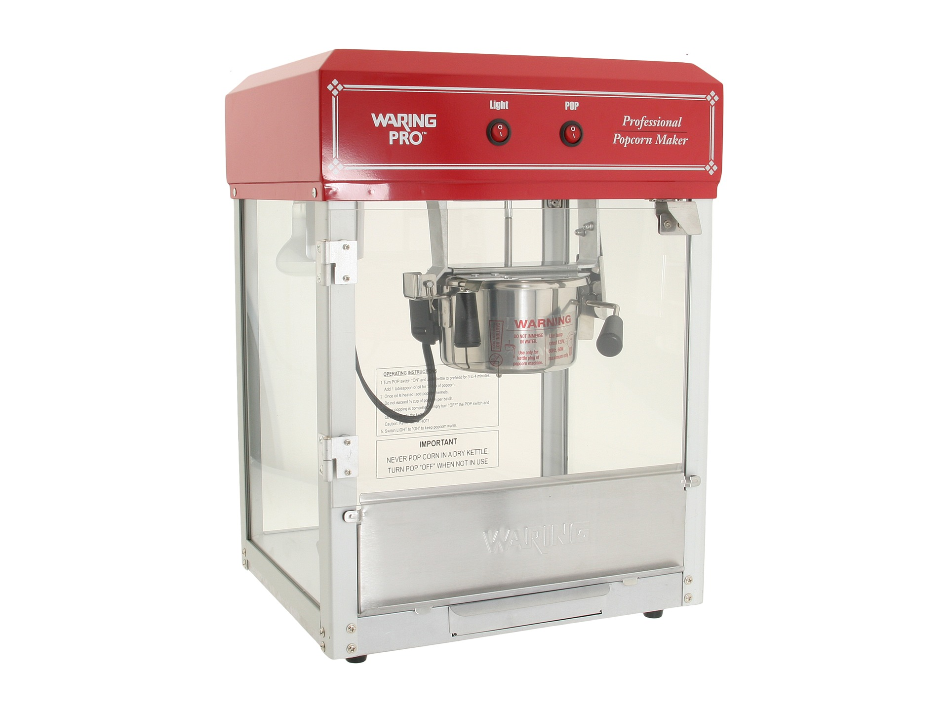 Waring Pro Wpm40 Professional 12 Cup Popcorn Maker Red Shipped Free At Zappos