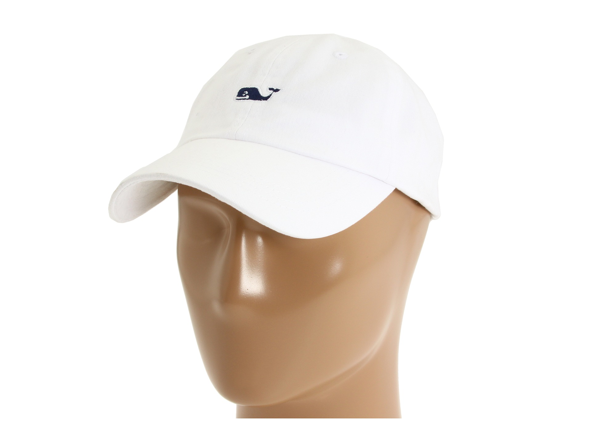 Vineyard Vines Whale Logo Baseball Hat White Cap Shipped