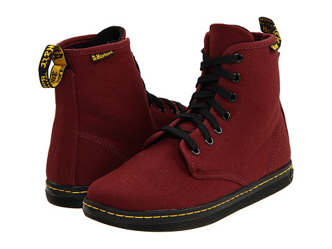 Dr Martens Shoreditch Cherry Red Canvas