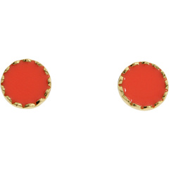Kate Spade New York - Dot To Dot Stud Earrings (Coral) - Jewelry