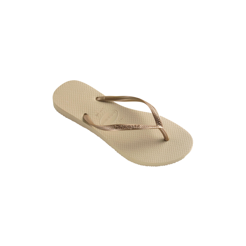 4eb3b3d6ce15 Havaianas Kids Slim Flip Flops (Toddler Little Kid Big Kid) Sand Grey Light  Gold