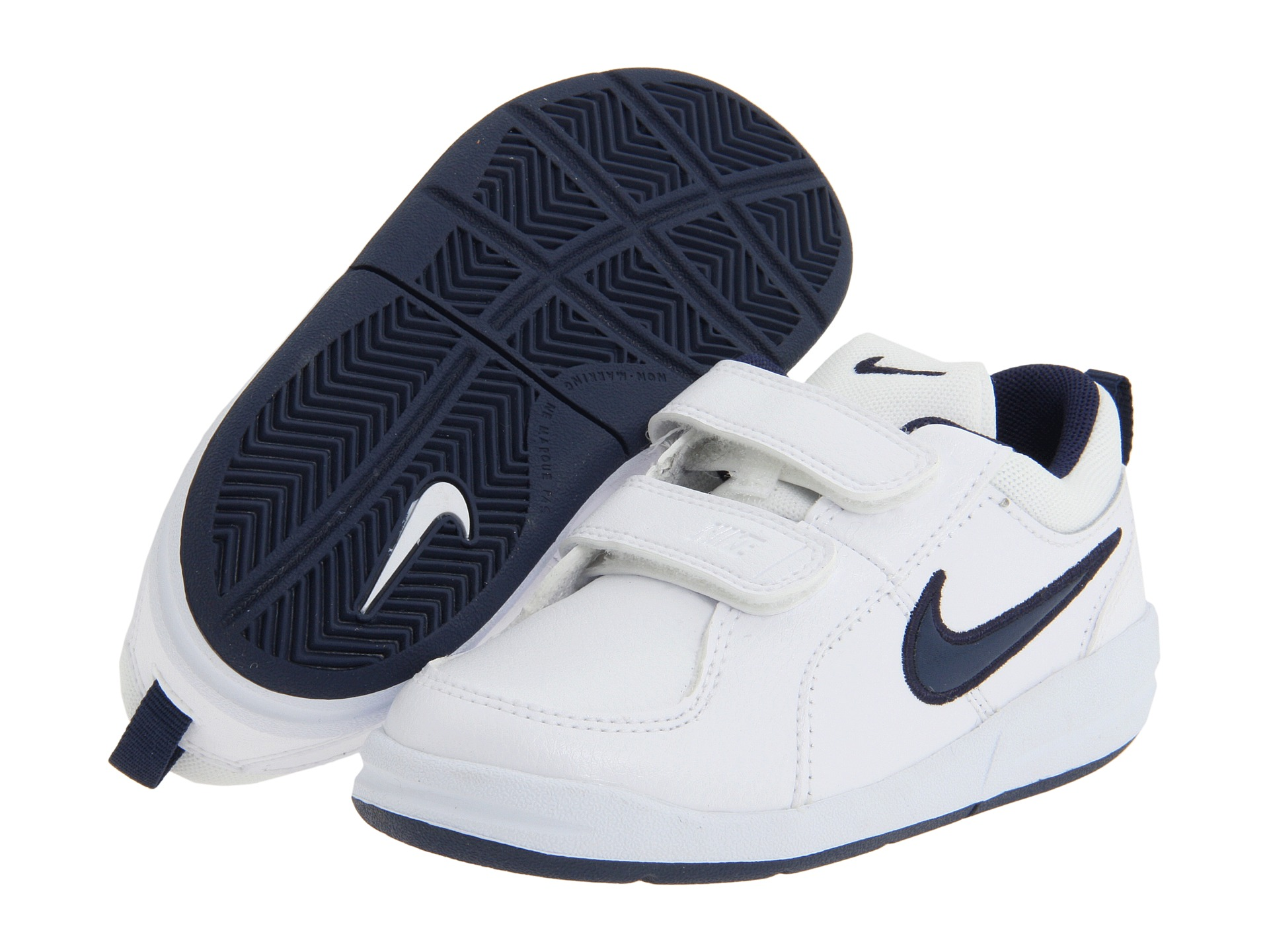Nike Kids Pico 4 (Infant/Toddler) White/Midnight Navy ...