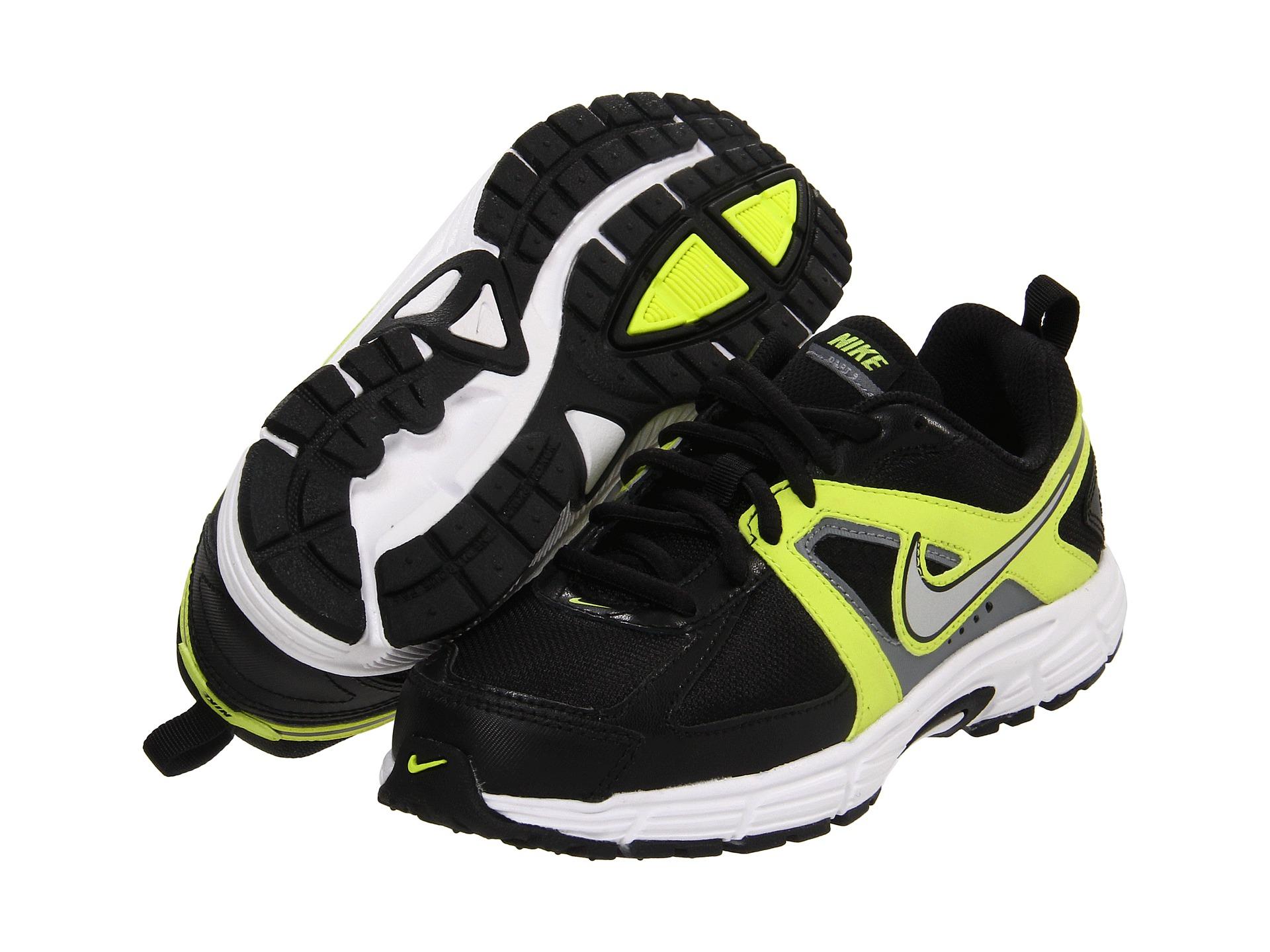 brand new 02792 ee423 Nike Kids Dart 9 Lace (Toddler Youth) Black Cyber Cool Grey Metallic