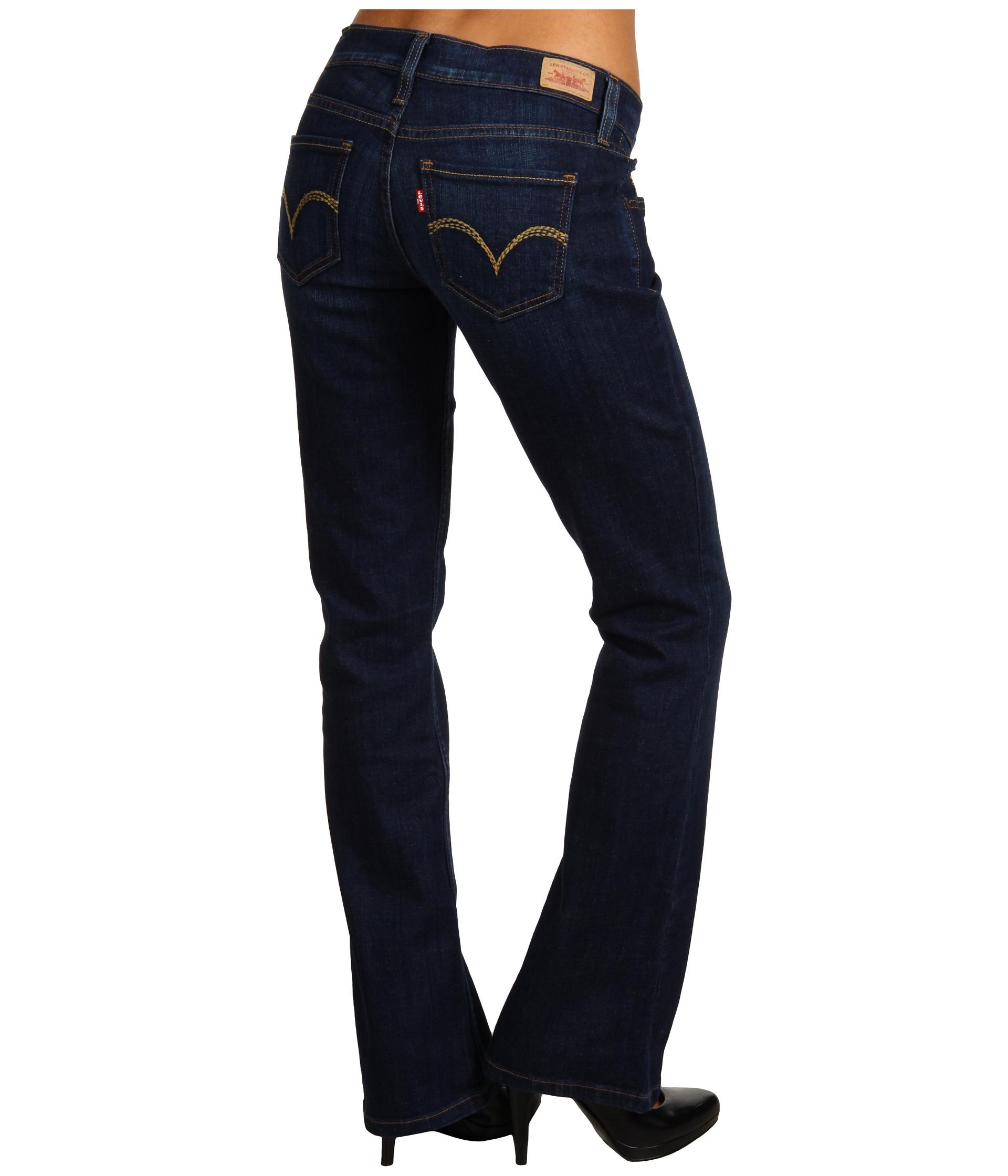 Levis Juniors 524 Boot Cut W Back Pocket Embellishment ...
