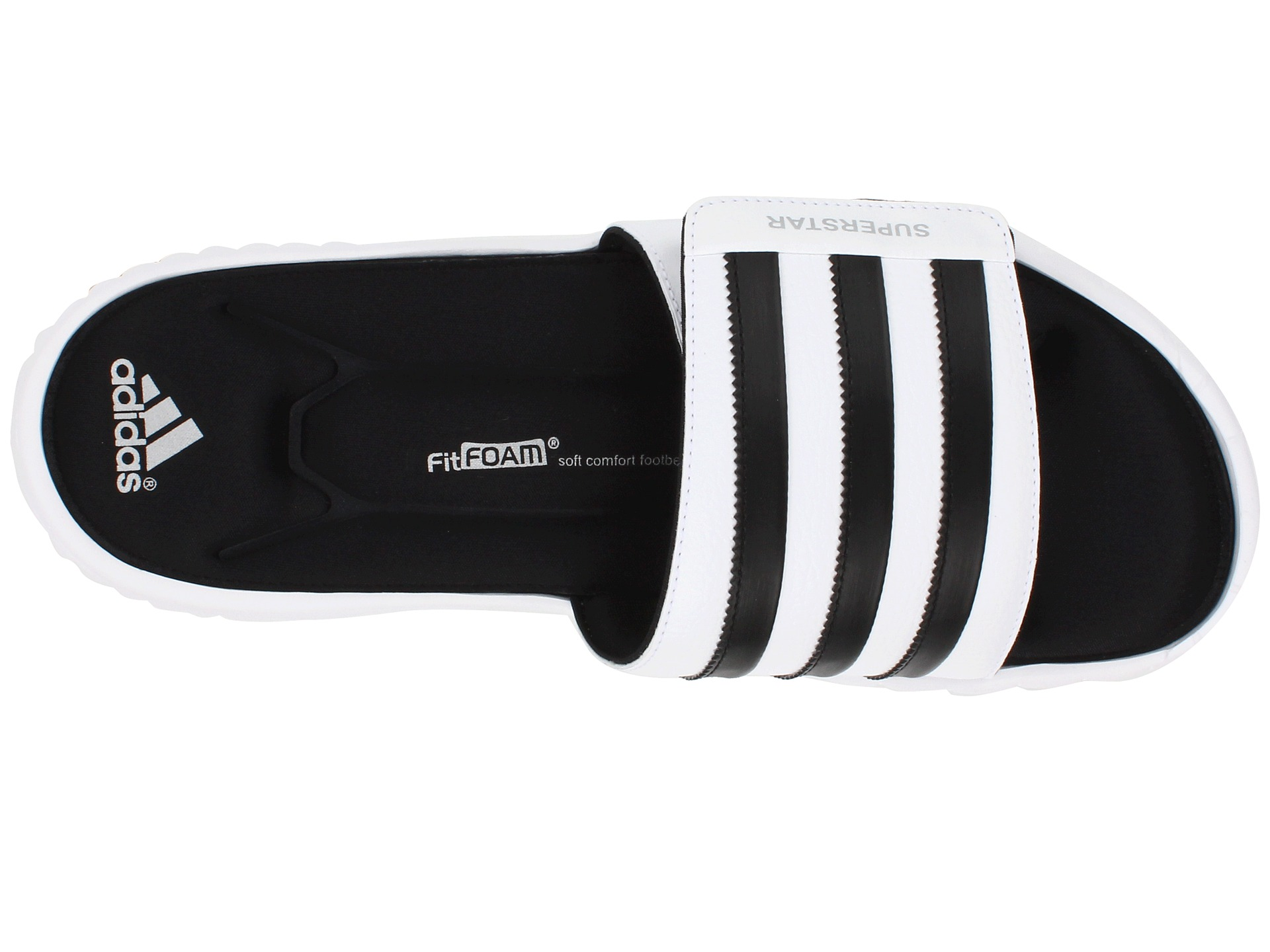 181986aa72bb9f adidas Superstar 3G Slide White Black Metallic Silver on PopScreen