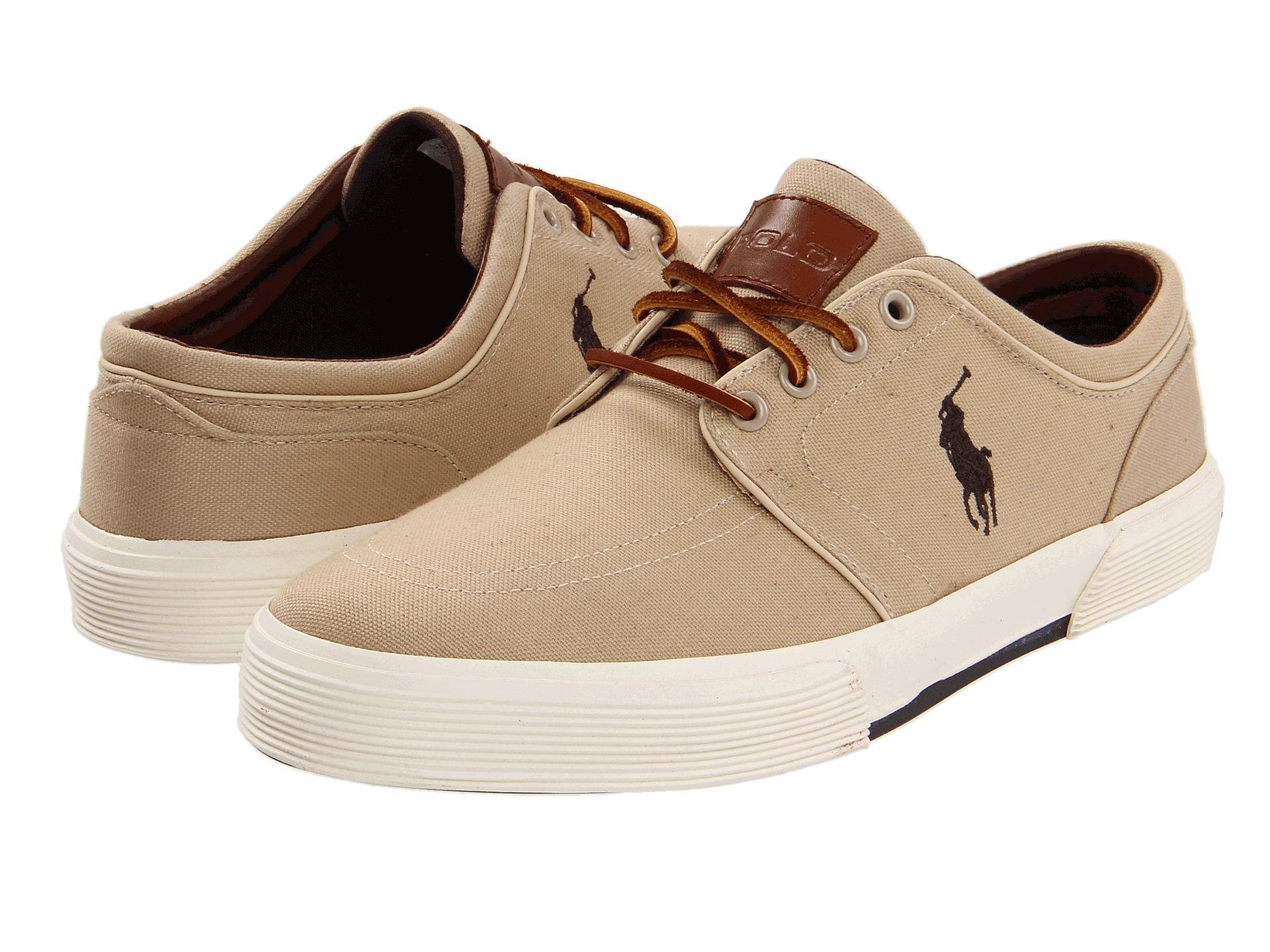 Men Ralph Lauren Polo Canvas Shoes Faxon Low
