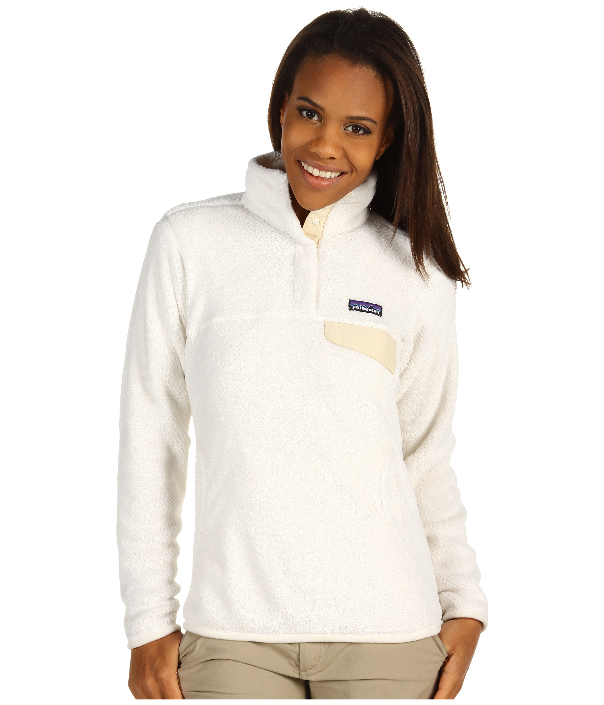 Patagonia Re Tool Snap T 174 Pullover Raw Linen White