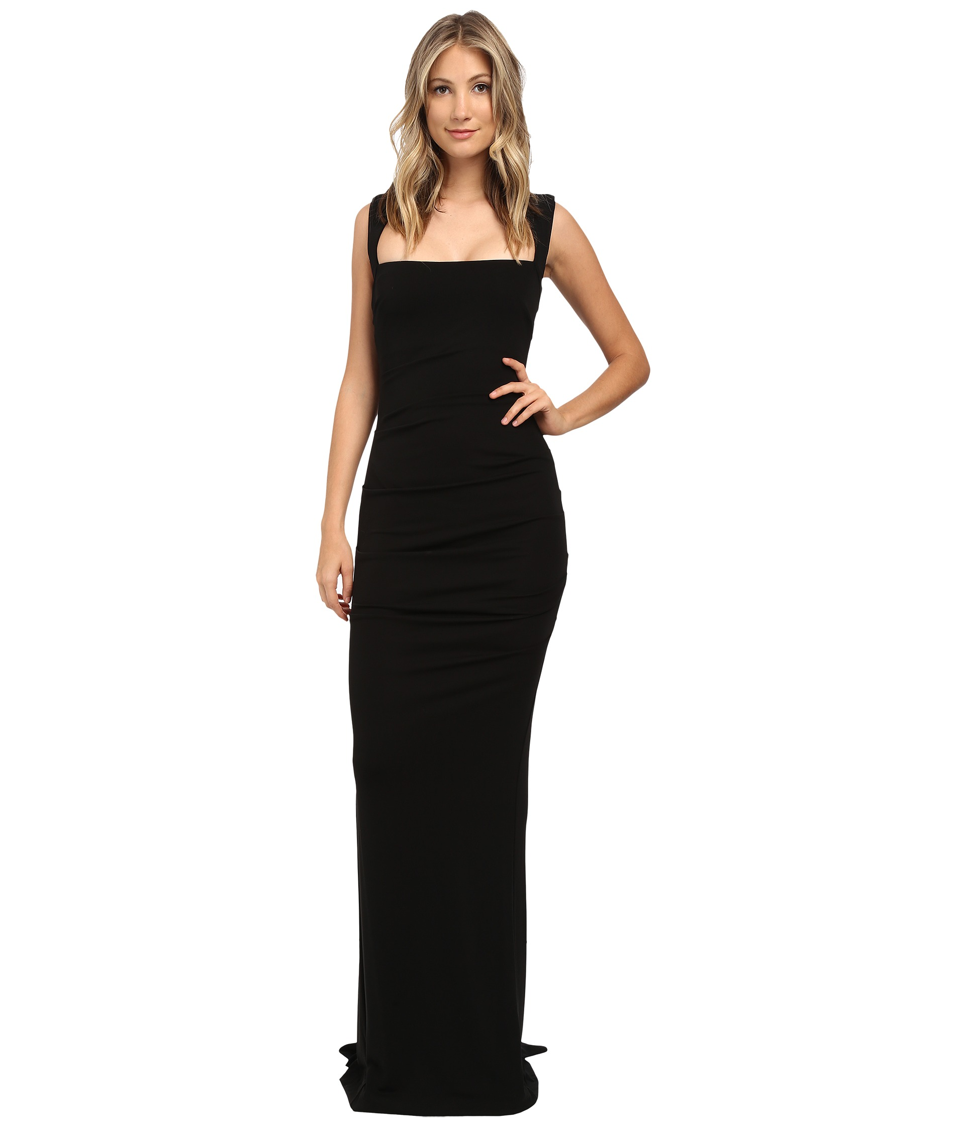 Nicole Miller Felicity Open Back Jersey Gown At Zappos.com