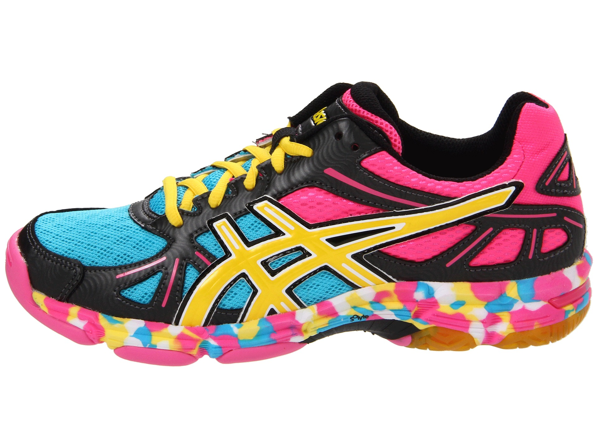 930ea6a78af8 ASICS GEL Flashpoint™ Black Neon Yellow Hot Pink on PopScreen