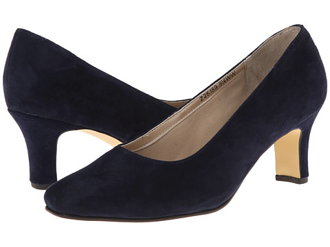 b7062cf6f4c3 Click Here to Get Fitzwell Vincent Pump Blue Suede Heels + Free Super Save  Shipping ~