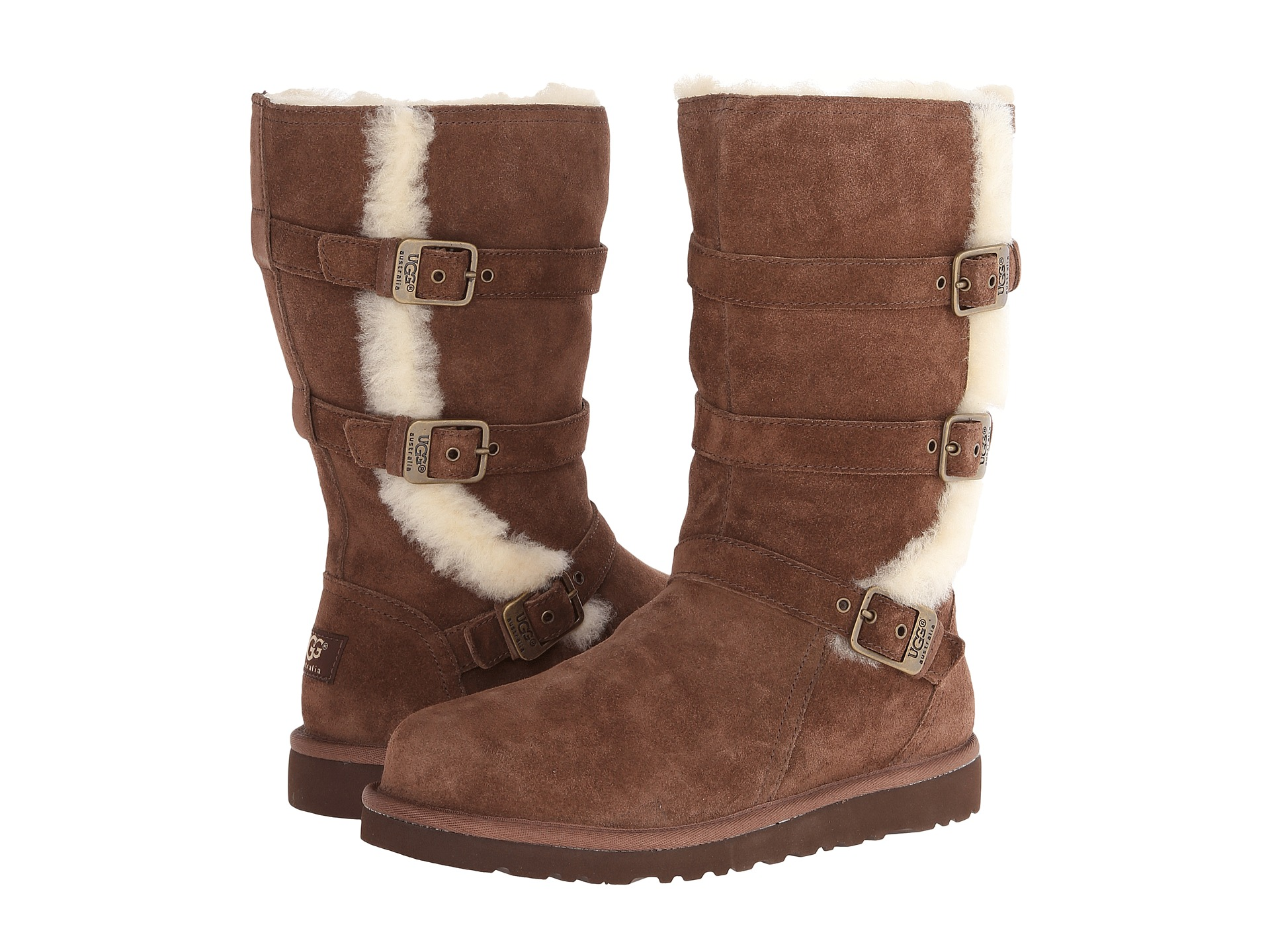UGG KIDS' SHOES, BOOTS, BOOTIES, AND HATS. UGG boots for kids are tough enough for recess but cool enough to wear to a play date. Lace your son up for rough and tumble play in a pair of ankle-hUGGing boots with rubber soles that grip the ground for safety.