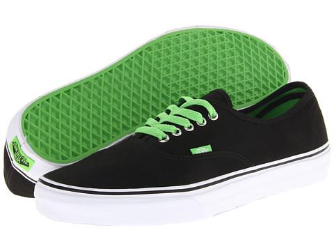 f0de0c75ea Buy black vans green laces