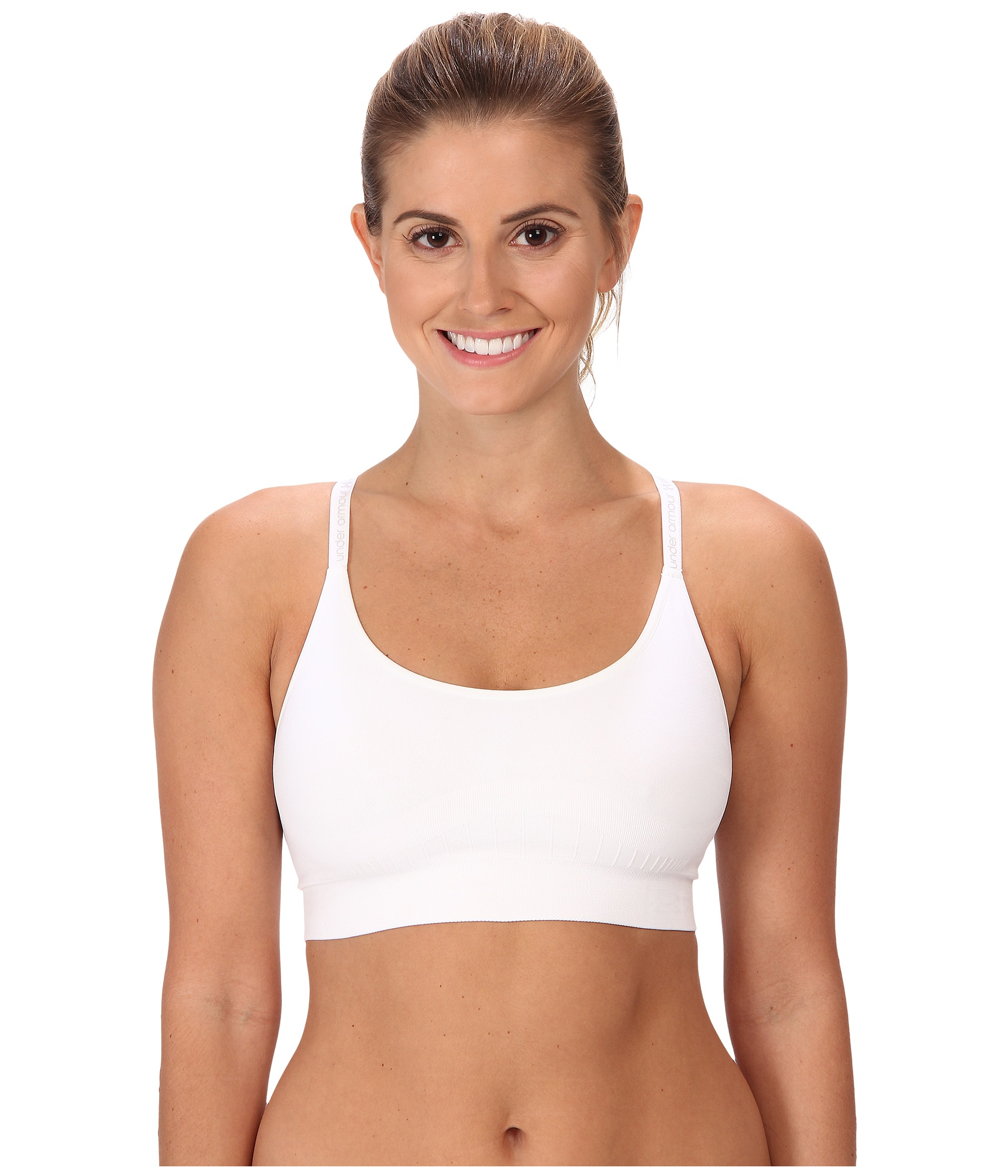 995c366751 Under Armour Seamless Essential Sports Bra White White on PopScreen