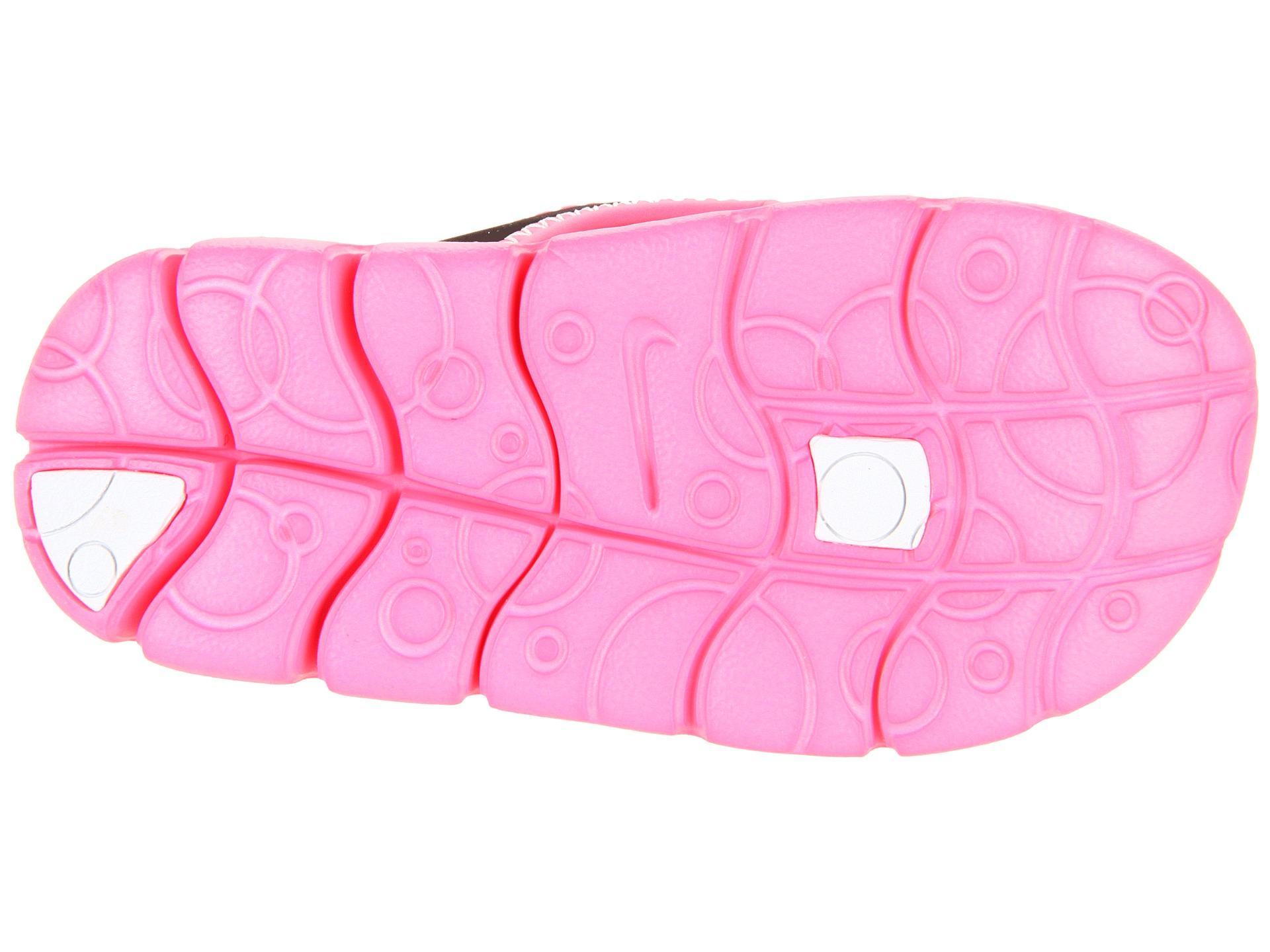 781d394c4 Nike Kids Sunray Adjust 4 (Infant Toddler) Black Digital Pink Pure Platinum