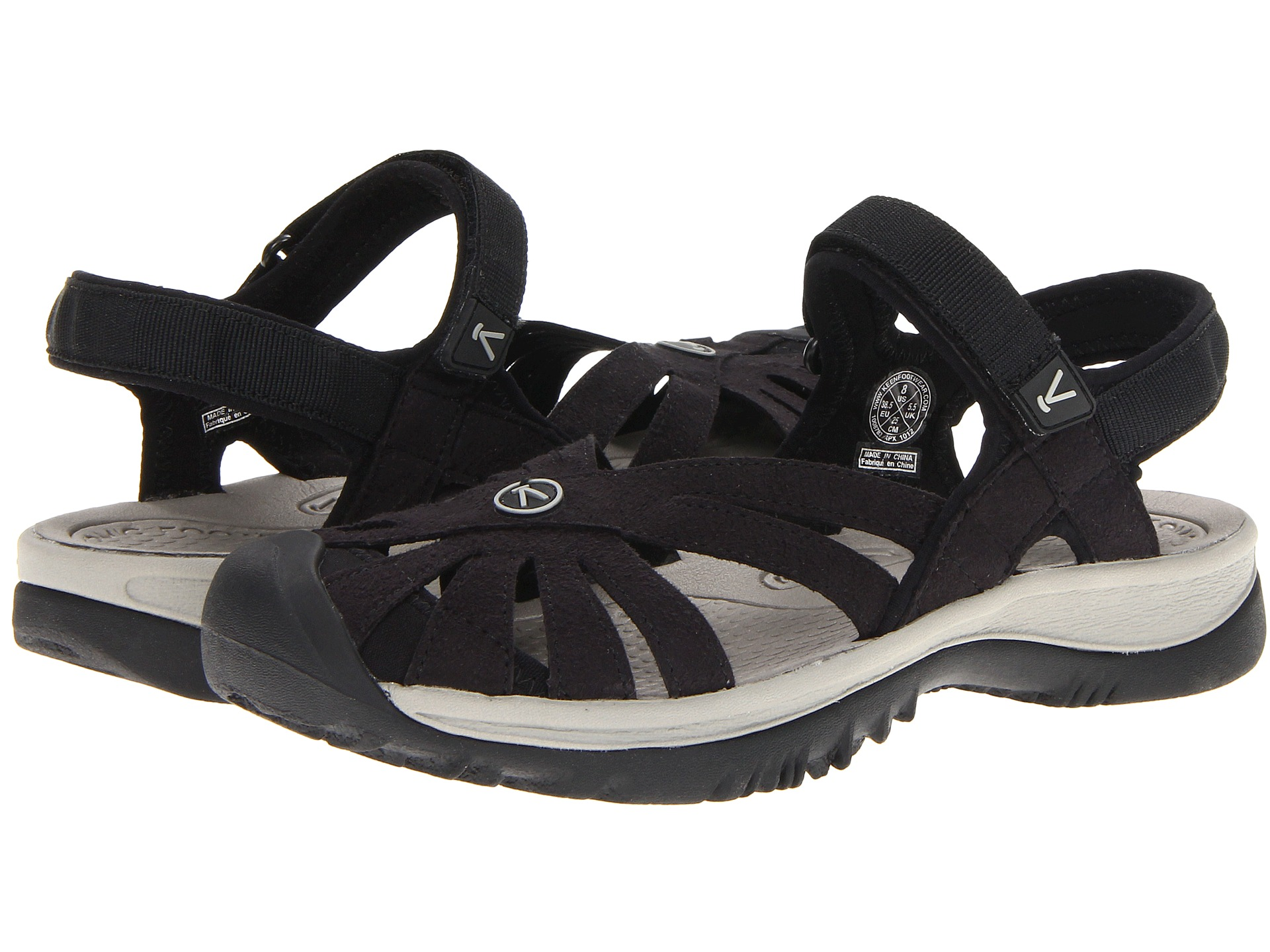 Keen Rose Sandal Black Neutral Gray Zappos Com Free