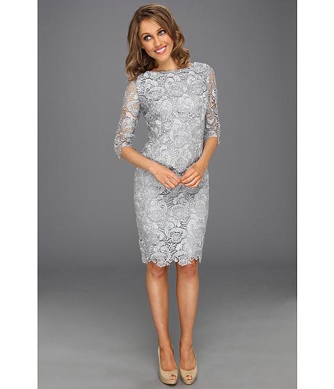 Eliza J 3 4 Sleeve Lace Sheath Dress Shipped Free At Zappos