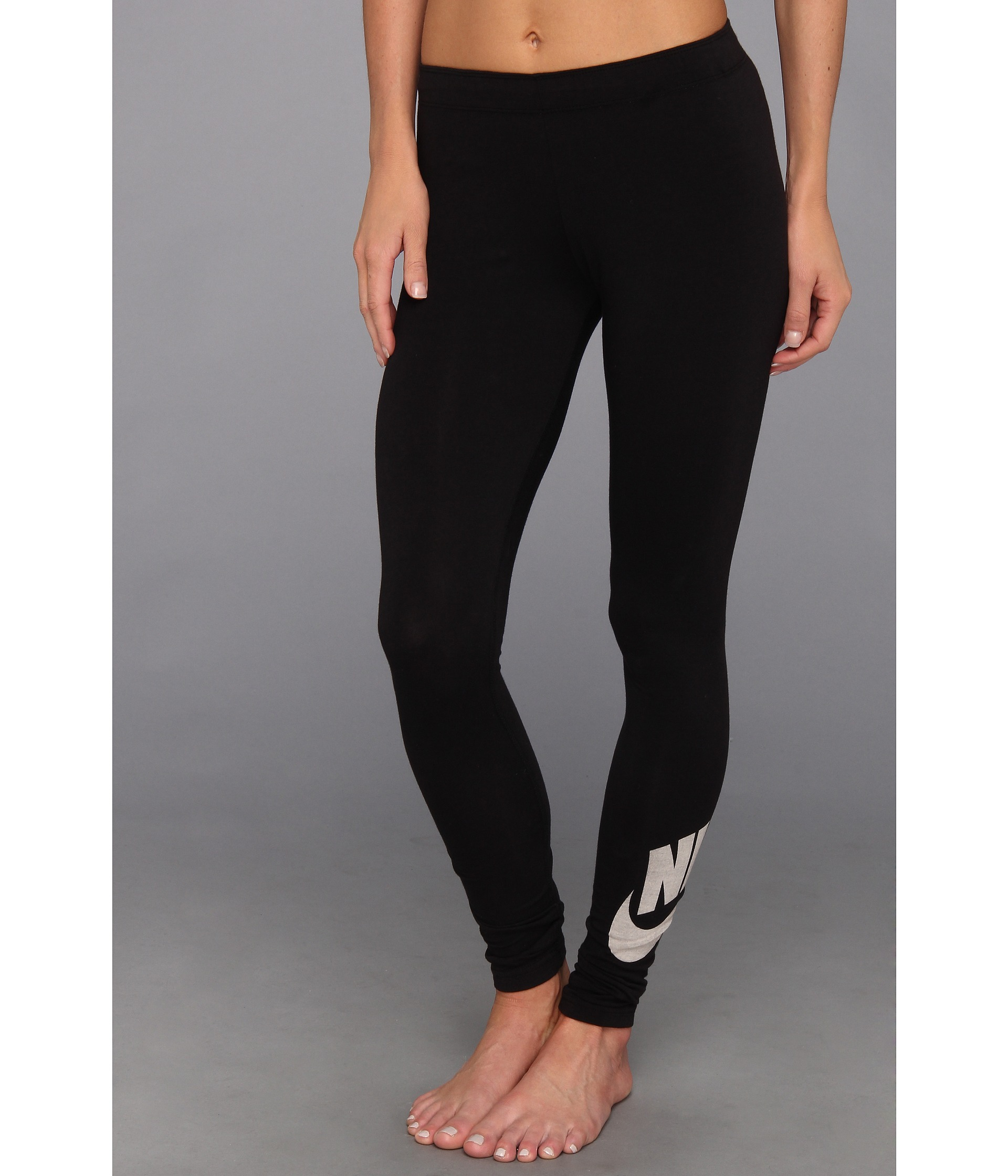 nike leg a see logo legging shipped free at zappos. Black Bedroom Furniture Sets. Home Design Ideas