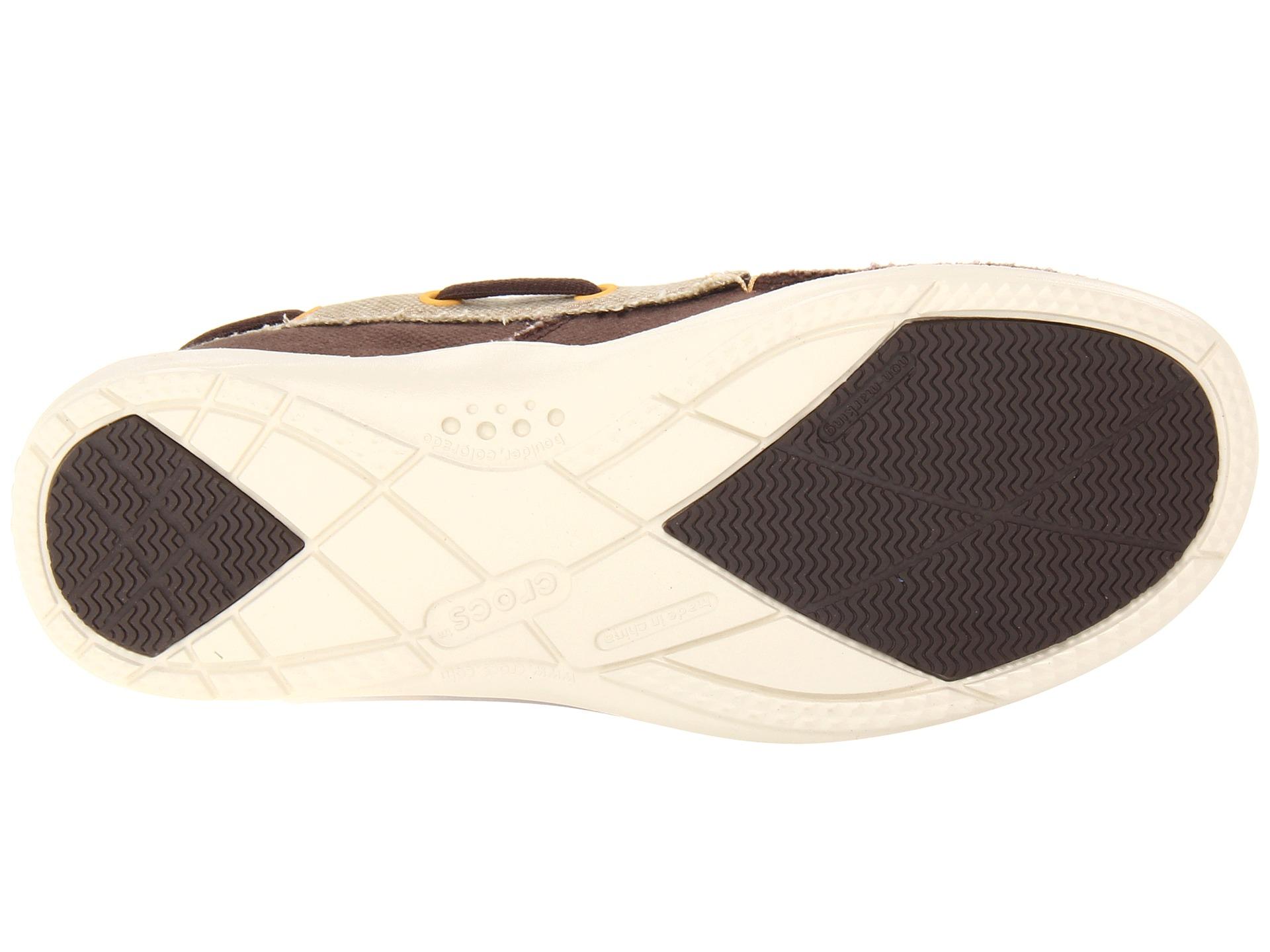 7a47922c4d1 Crocs Walu Canvas Deck Shoe