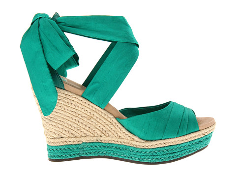 76f2adf2efe Emerald Green Wedge Heels in Larger Sizes