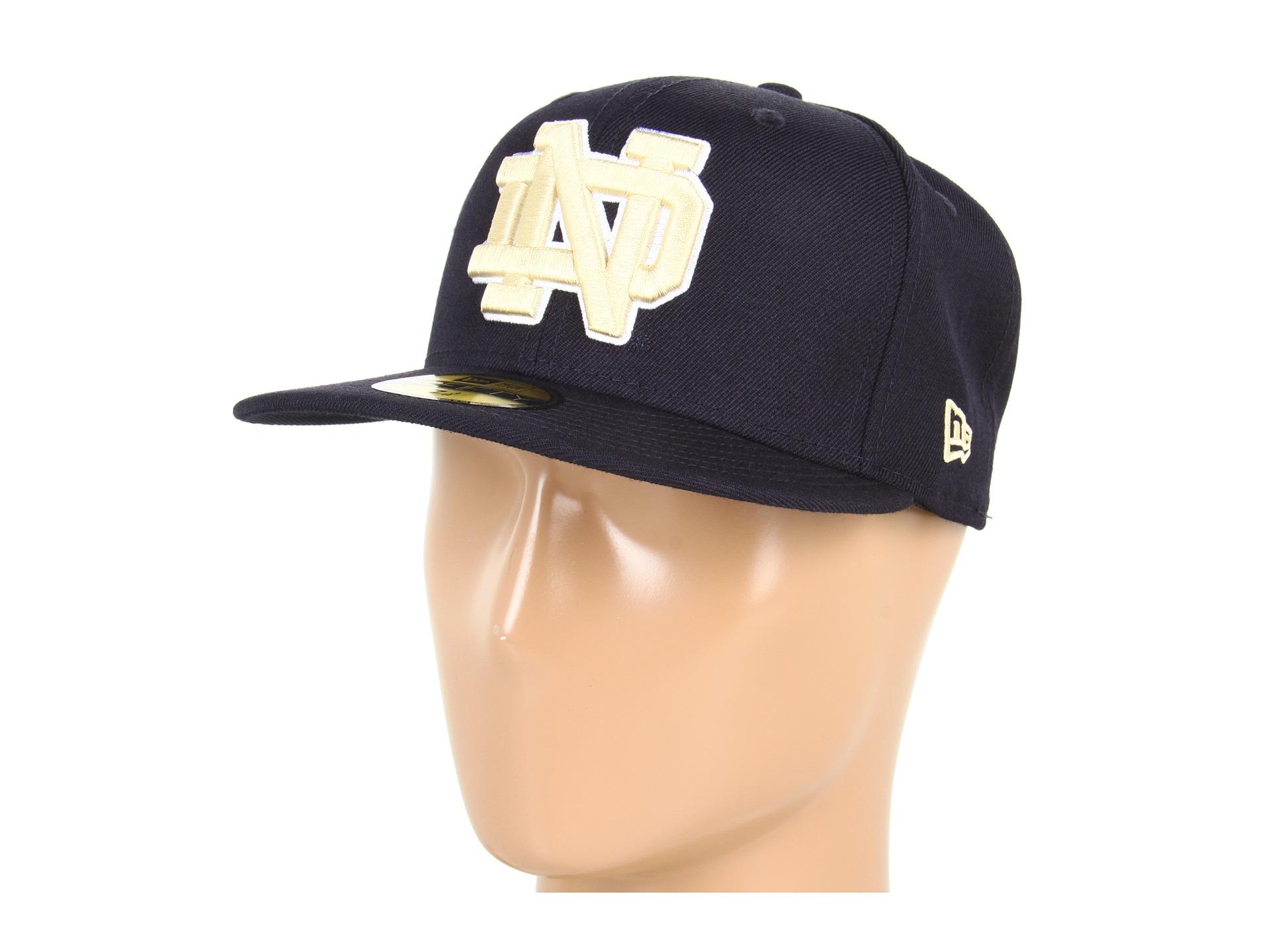 b6bbd329392 New Era Notre Dame Fighting Irish NCAA™ AC Stock 59FIFTY® Navy Gold ...