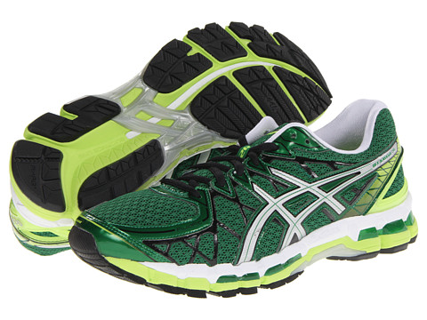 check out 0ac53 074e7 womens asics gel kayano 20 green yellow