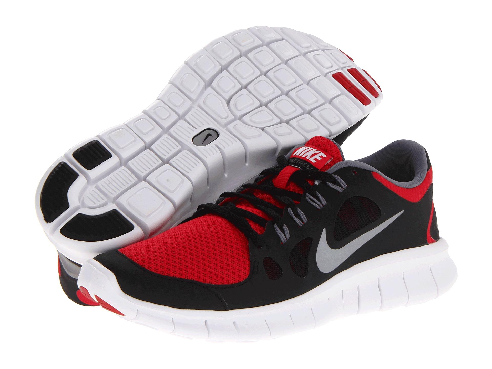 00f7404dea4 Nike Kids Free Run 5 0 Big Kid Distance Red Black Cool Grey Metallic Silver