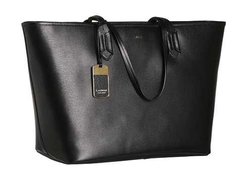 56cc2f9173 Click Here to Get Lauren By Ralph Lauren Tate Classic Tote Black Black +  Free Super Save Shipping ~