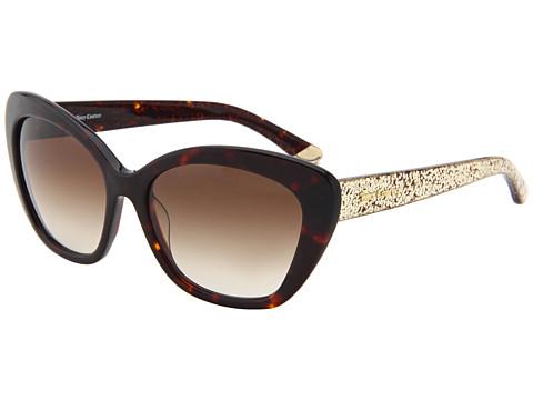 Juicy Couture Glittered Cat Eye Sunglasses Tortoise ...