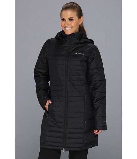 Columbia Powder Pillow Long Jacket Black Clothing Women