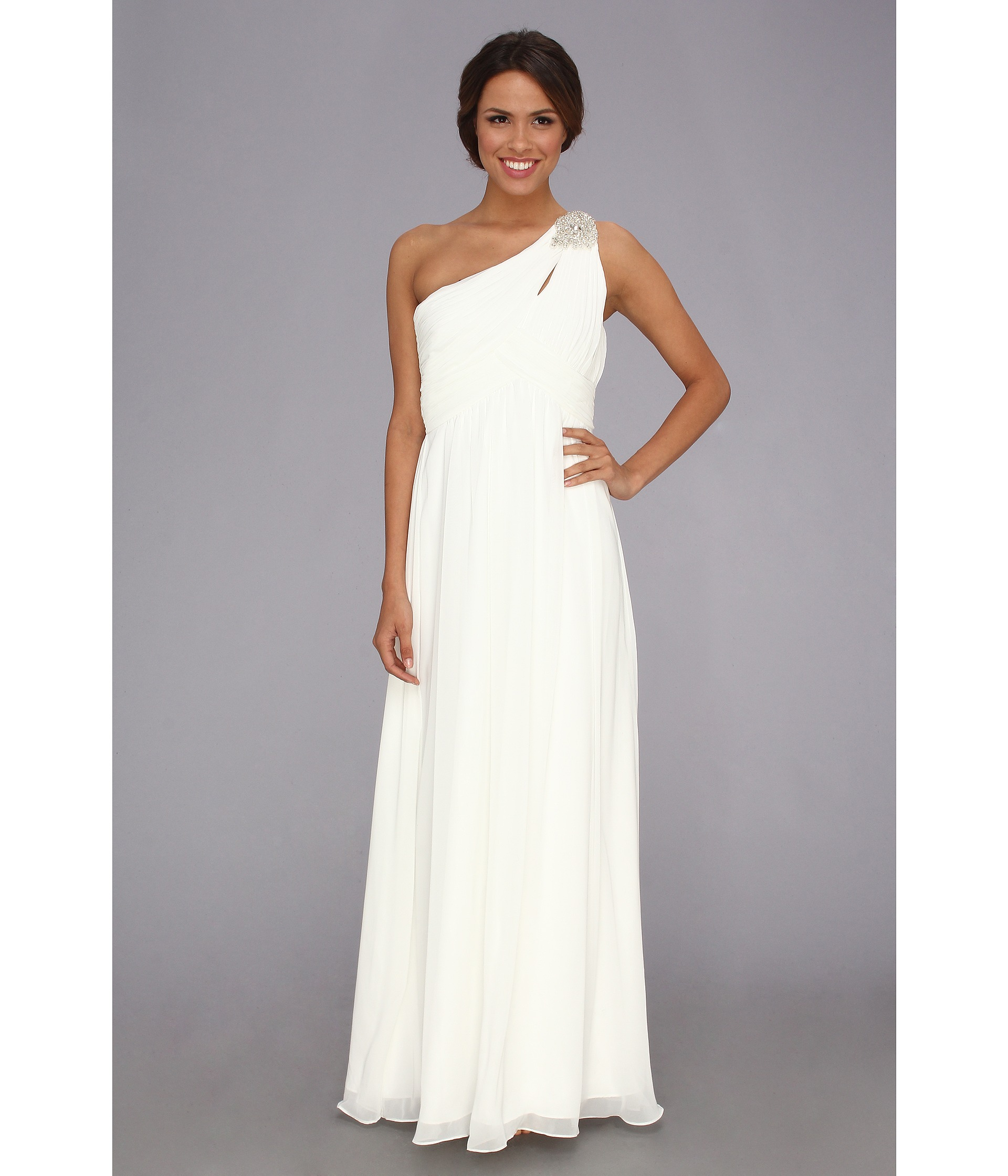 Calvin Klein Wedding Gowns: Calvin Klein One Shoulder Gown Ivory
