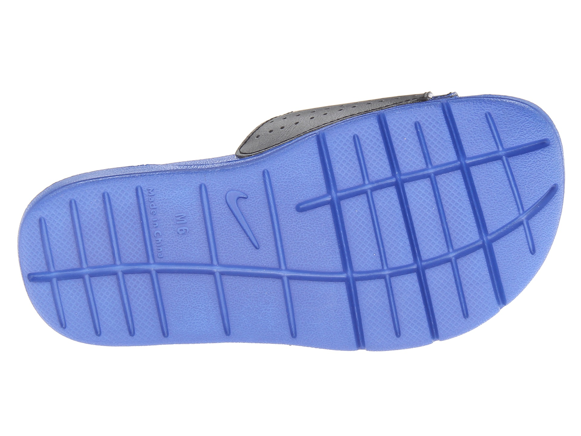 ef5d8ebe3626 Nike Comfort Slide 2 Game Royal Black White on PopScreen