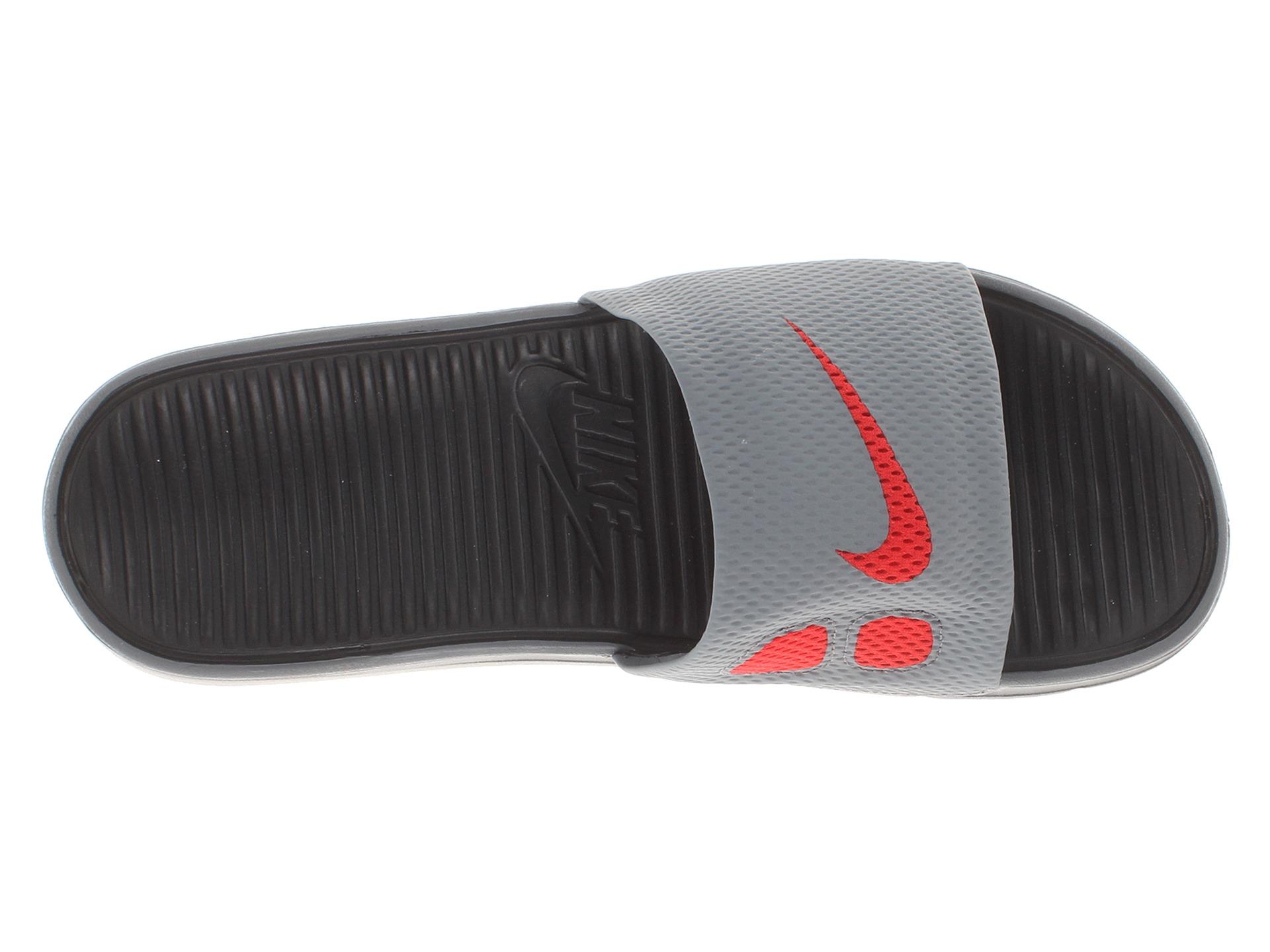 a62048479 Nike Benassi Solarsoft Slide Cool Grey Black University Red