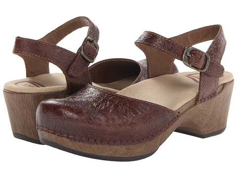 Dansko Women S Brown Leather Clogs Shoes Sausalito
