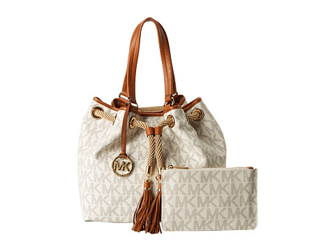 04831d6f2ec481 Click Here to Get Michael Michael Kors Marina Large Gathered Tote Vanilla +  Free Super Save Shipping ~