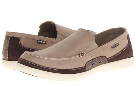 Crocs Men S Walu Espresso Khaki Slip On Shoes