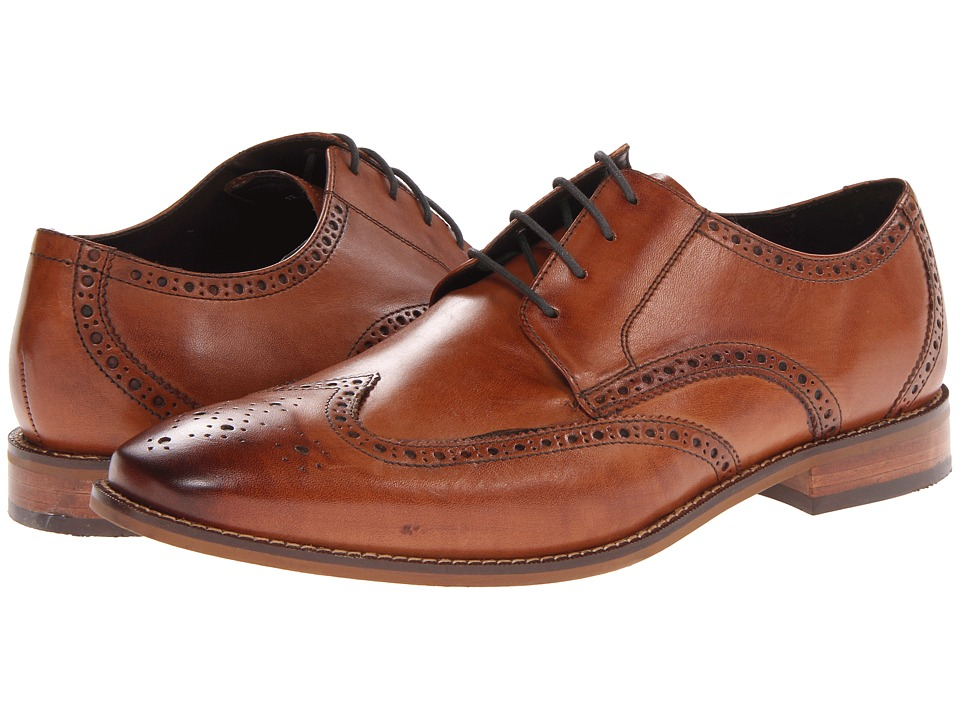 Orange Leather Mens Shoe By P