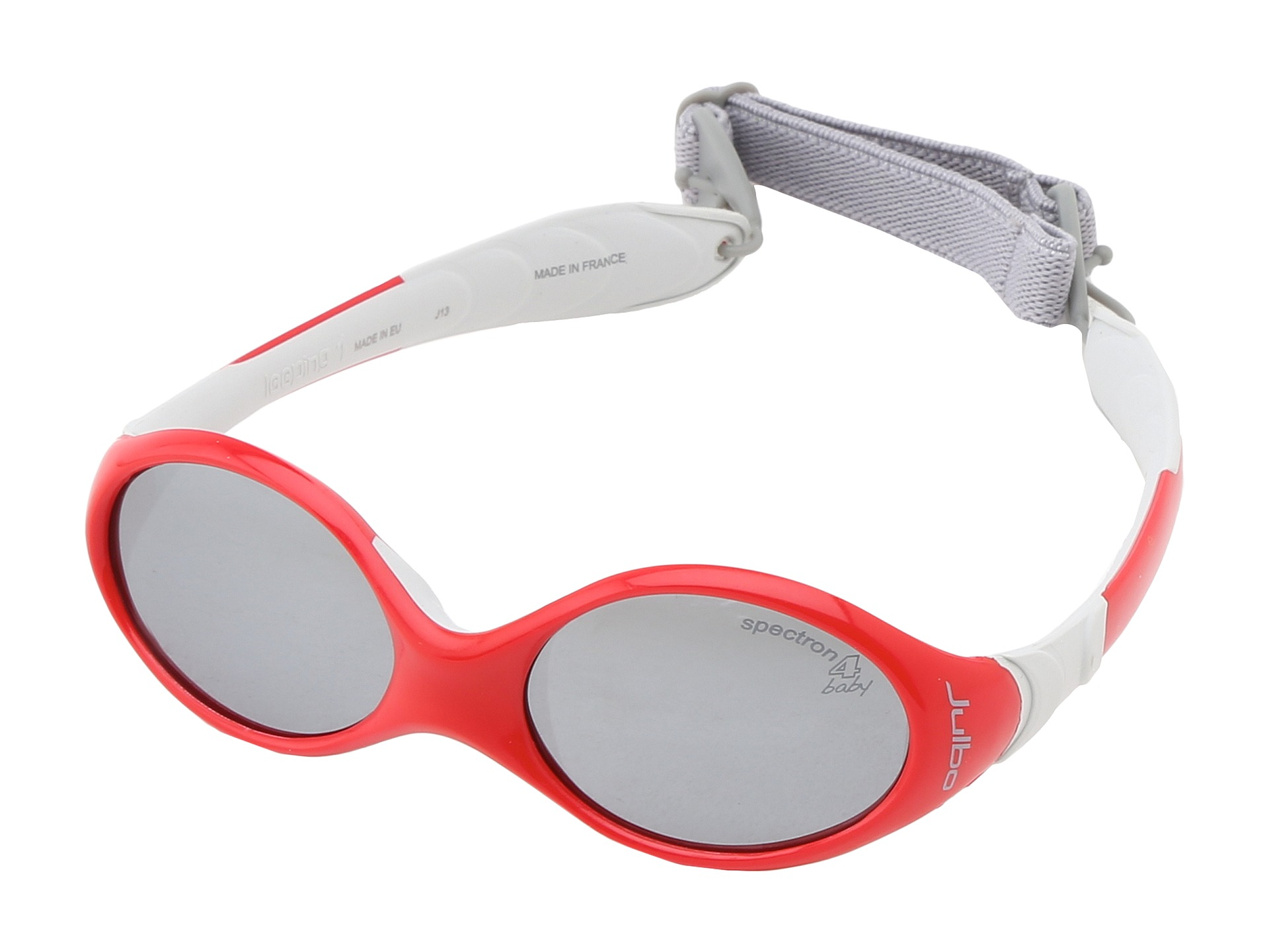 a116bfd7ab Julbo Eyewear Looping I Baby Sunglasses Red Grey W Spectron 4 Baby Lenses 0  18 Months Red Grey