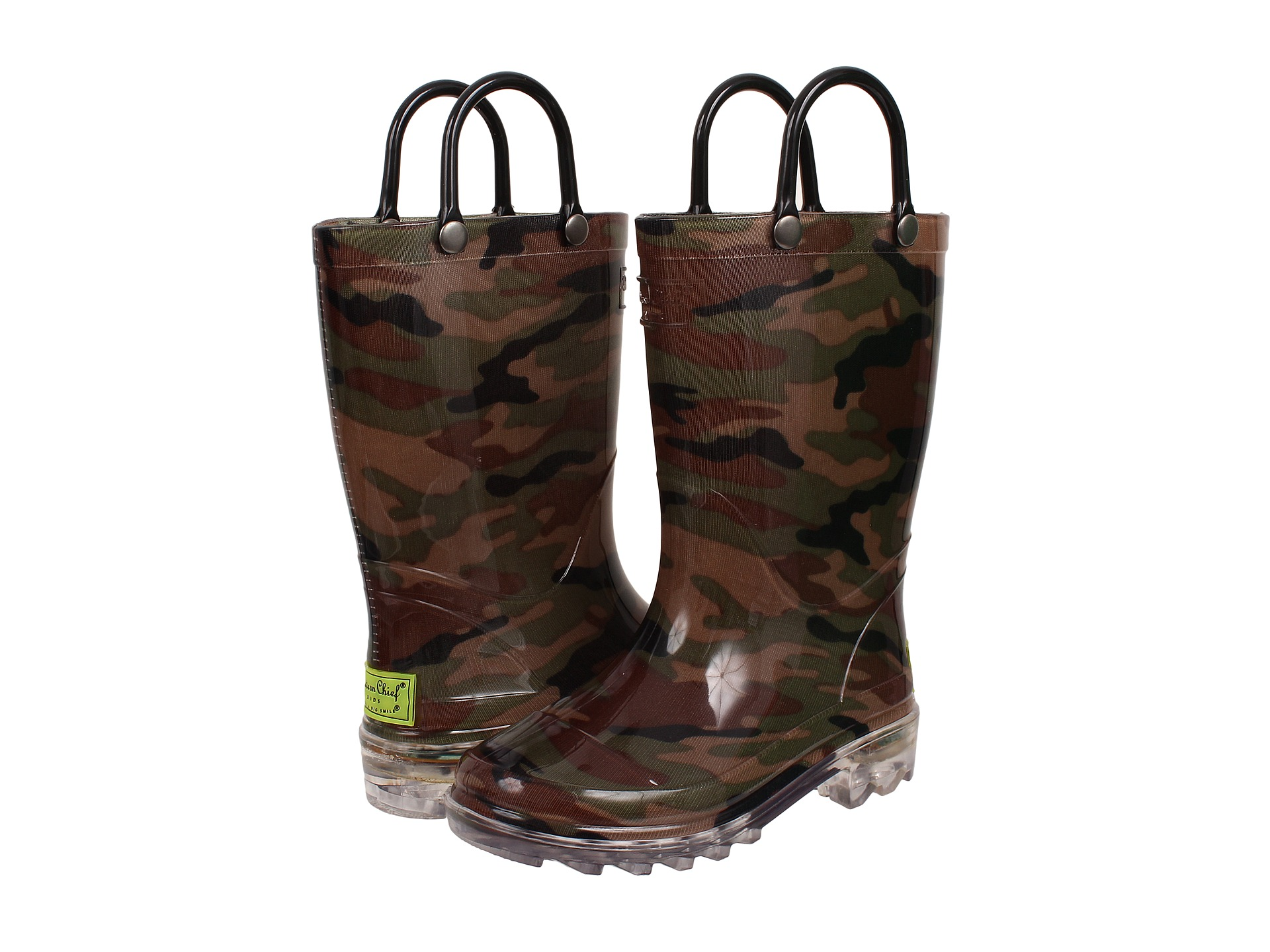 Western Chief Kids Lighted Pvc Camo Toddler Little Kid
