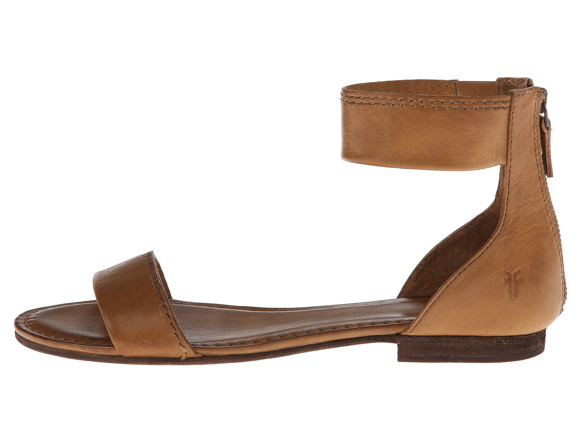 Frye Carson Ankle Zip Camel Soft Vintage Leather Zappos