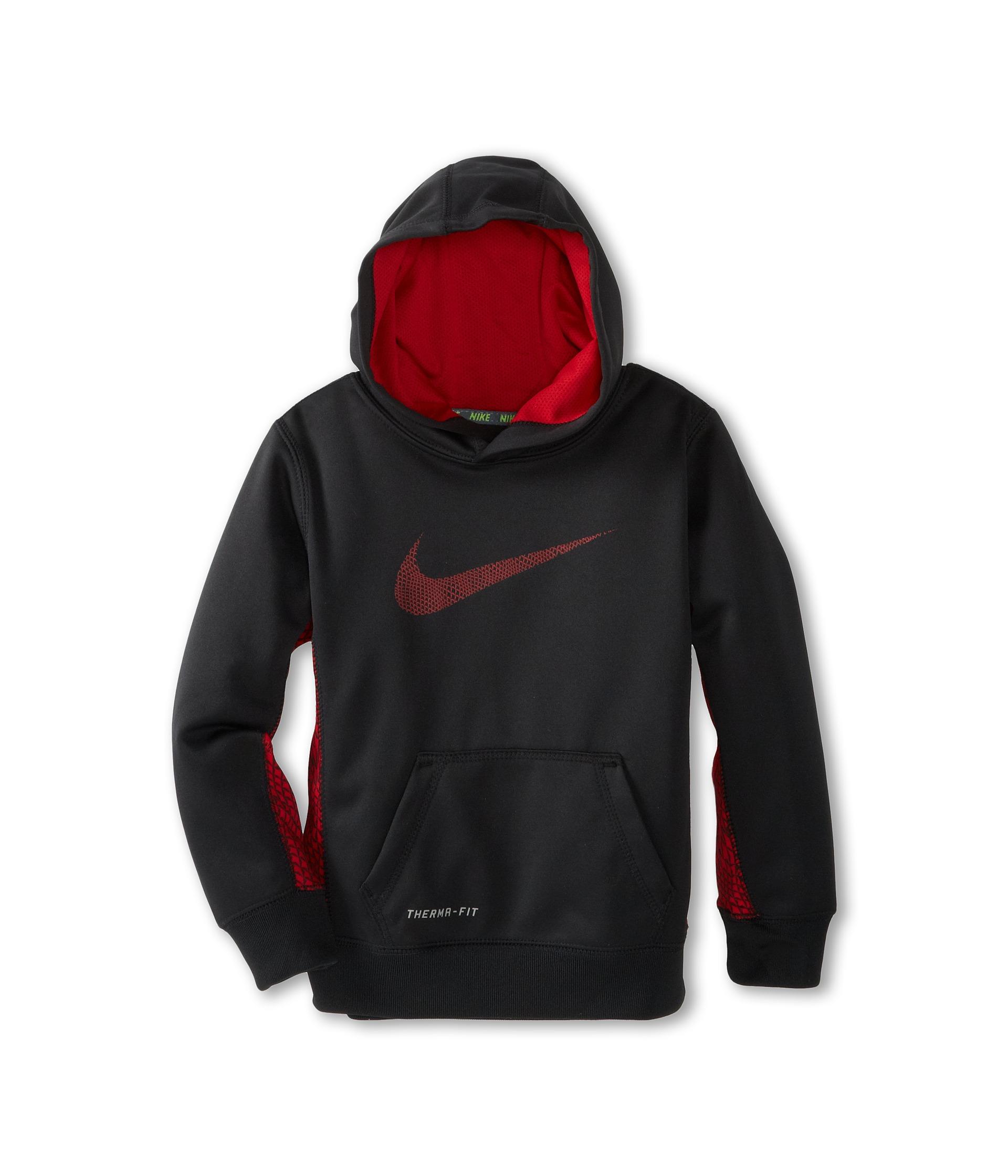 Nike Kids Boys Therma Fit Pullover Hoodie Little Kids ...