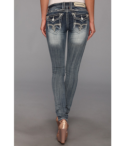 57643c88e4a Rock Revival Angie S19 Skinny Light Indigo Jeans - Best Women Jeans