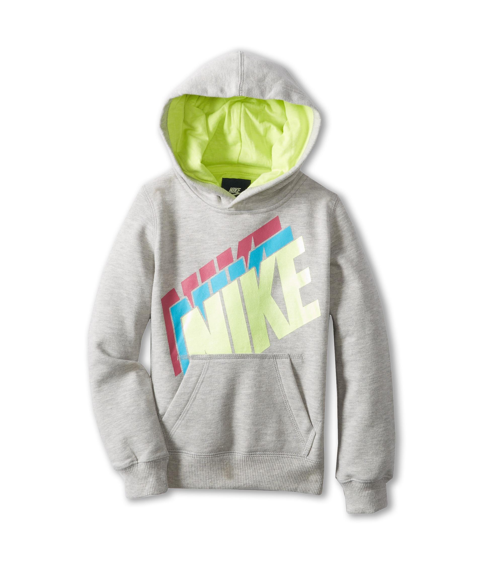 Nike Kids Nike Fleece Pullover Hoodie Little Kids Grey ...